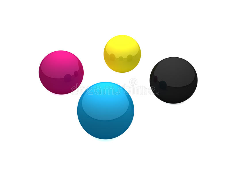 Ballen CMYK stock illustratie