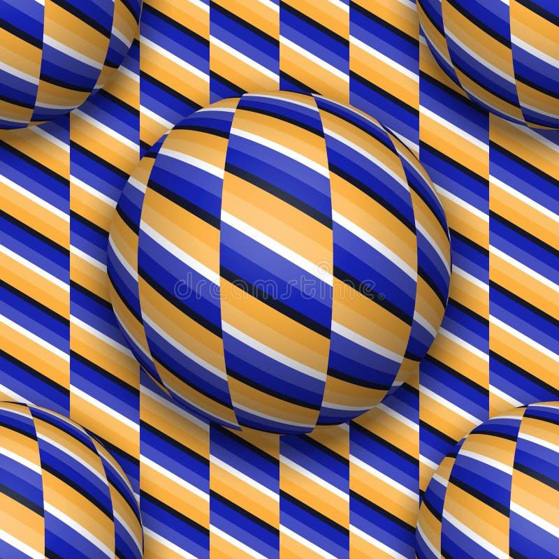 Ballen die zich naar omhoog bewegen Abstract vector naadloos patroon vector illustratie