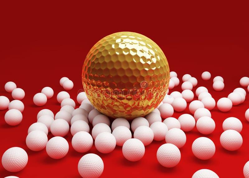 Ballen voor golf vector illustratie