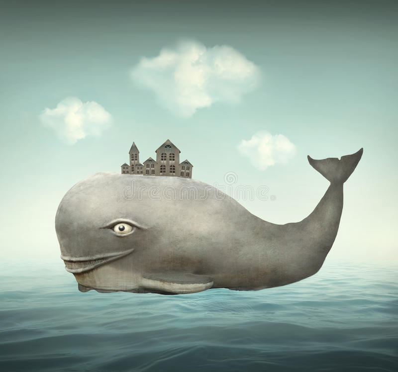 Ballena de la fantasía libre illustration