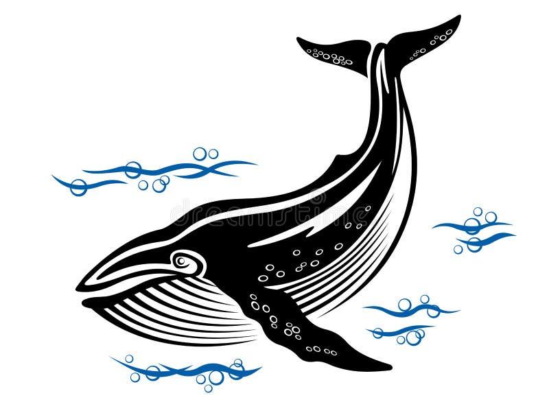 Ballena grande ilustración del vector