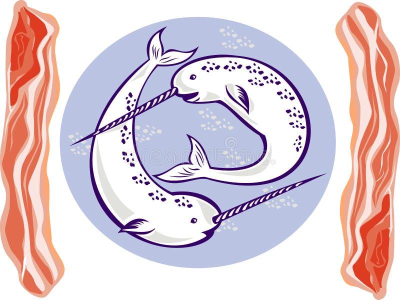 Ballenas y tocino de Narwhal libre illustration