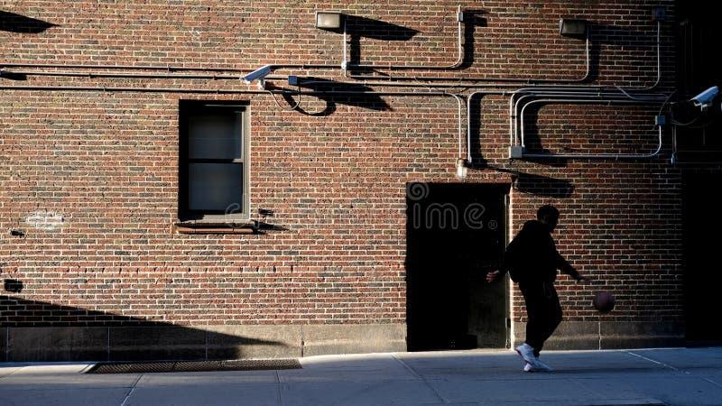 Baller στην πόλη της Νέας Υόρκης στοκ εικόνες