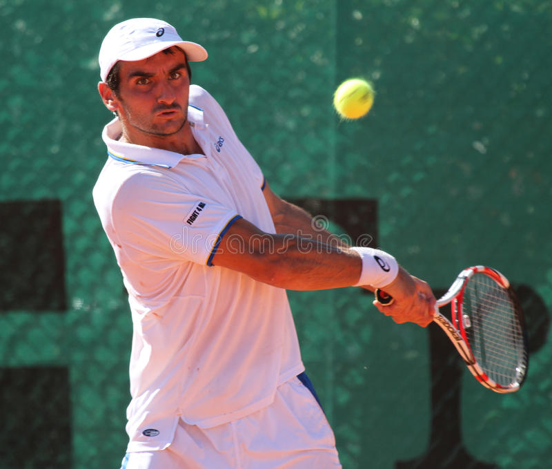balleret beniaminu gracza tenis obraz royalty free
