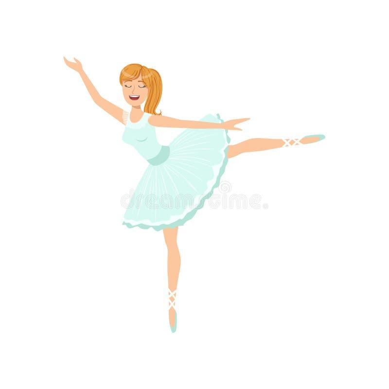 Balleria dans l'exécution bleue de tutu illustration de vecteur