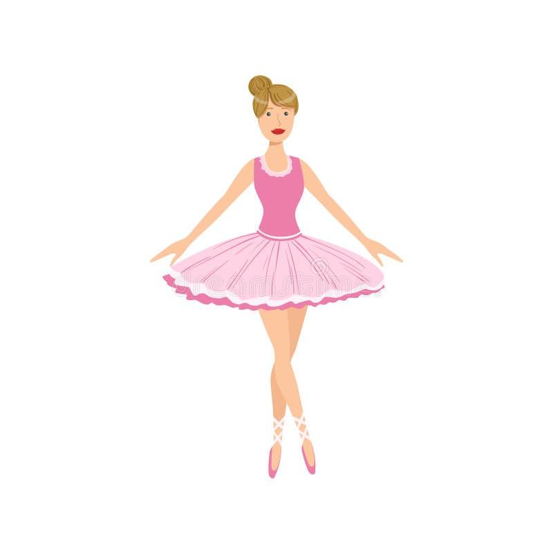 Balleria dans l'exécution rose de tutu illustration stock