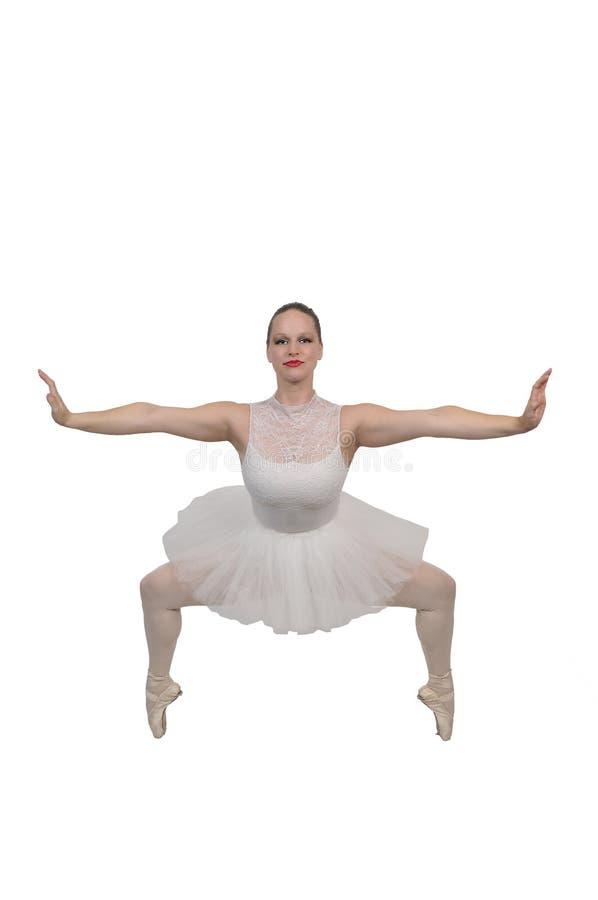 Ballerina γυναικών με τα παπούτσια pointe στοκ φωτογραφίες