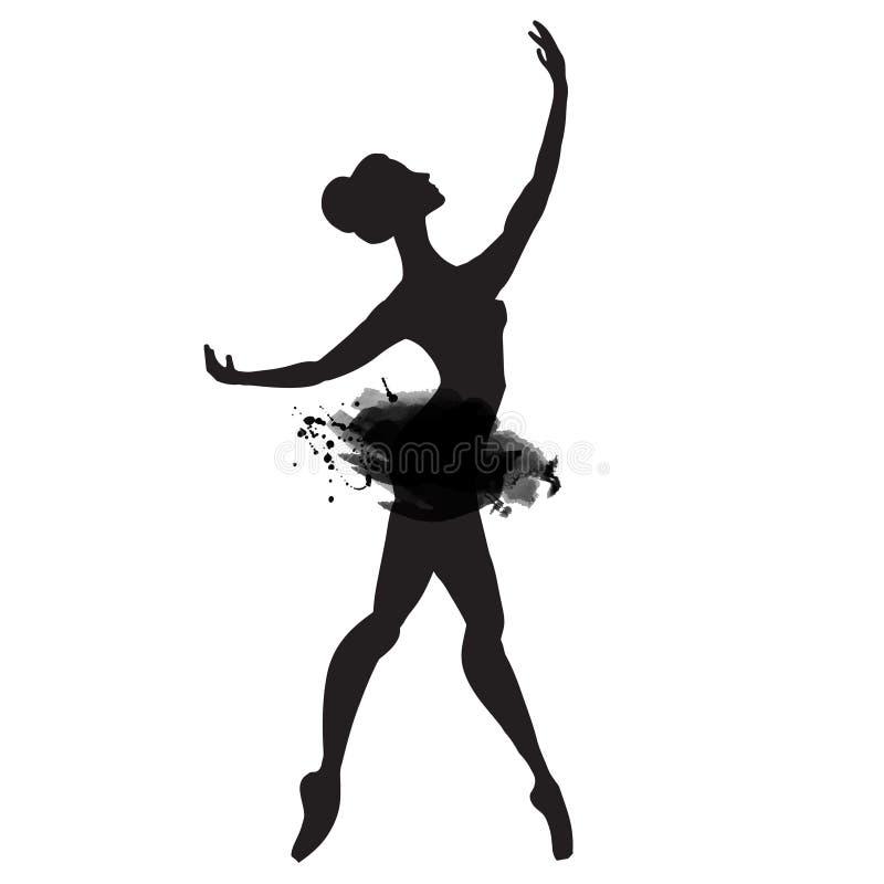 Ballerina στο χορό watercolor διάνυσμα διανυσματική απεικόνιση