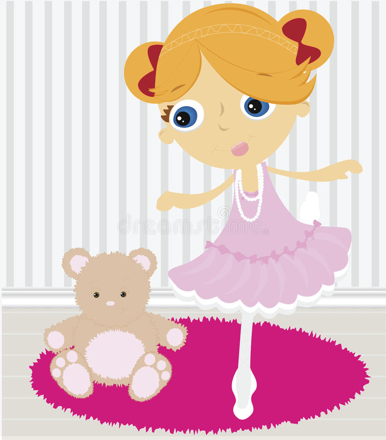 Download Ballerina stock vector. Image of teddy, ballet, sweet - 11337388