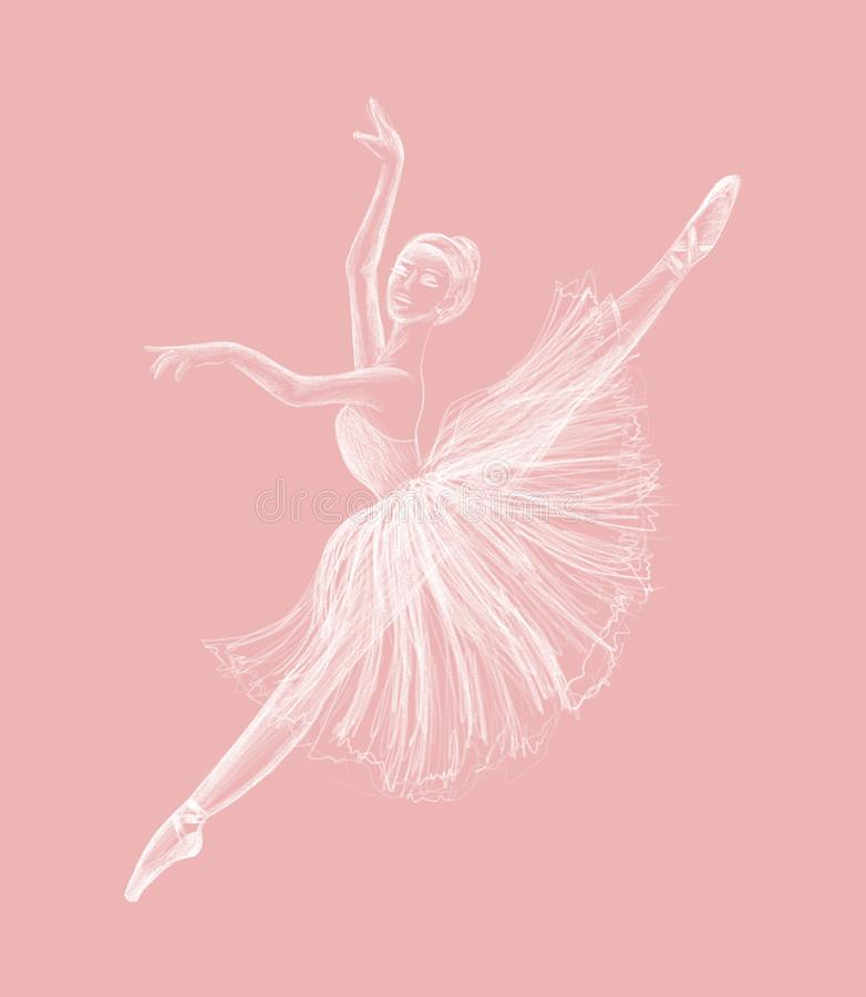 Ballerina royalty-vrije illustratie
