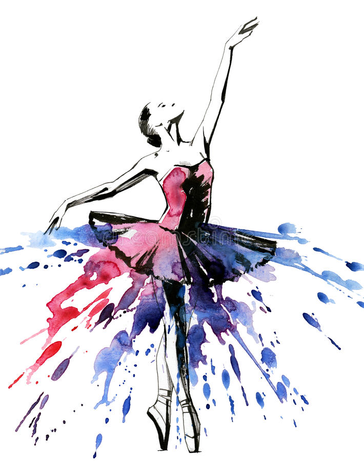 ballerina royaltyfri illustrationer