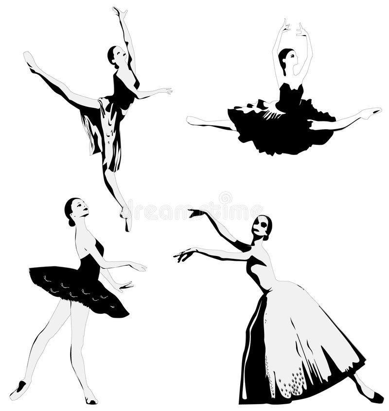 Ballerina royalty free illustration