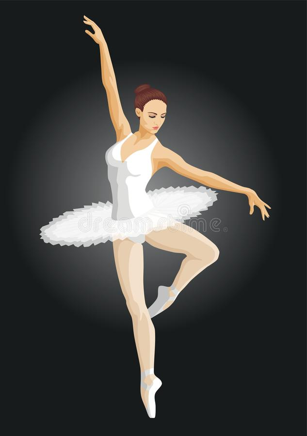 Ballerina vektor illustrationer