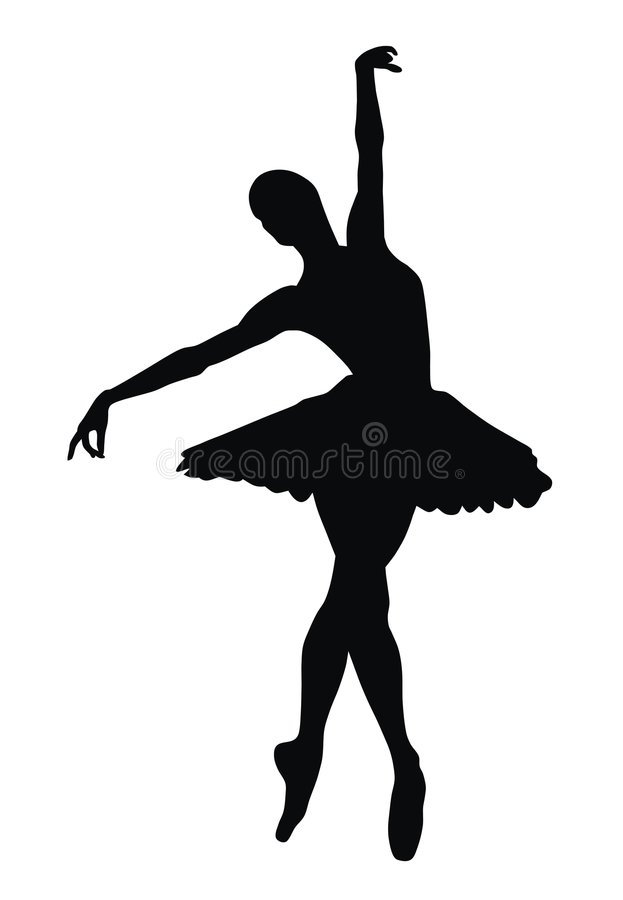 Ballerina stock vector. Illustration of silhouette, dancer ...