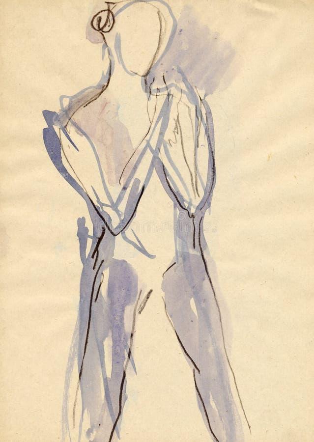 Ballerina, 5 zeichnend lizenzfreie abbildung