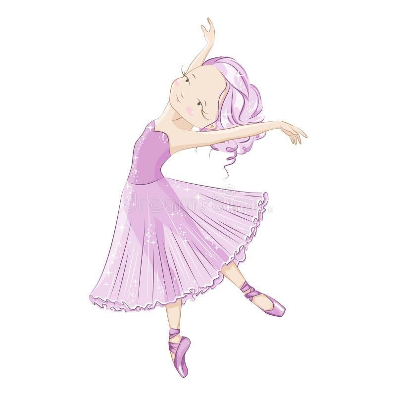 Ballerina vector illustratie
