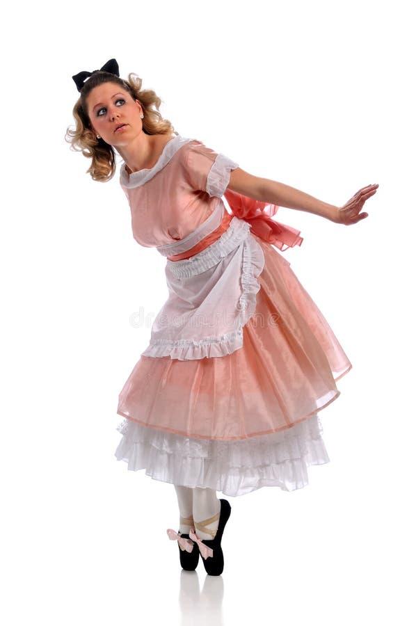 Ballerina-Ausführung lizenzfreie stockfotos