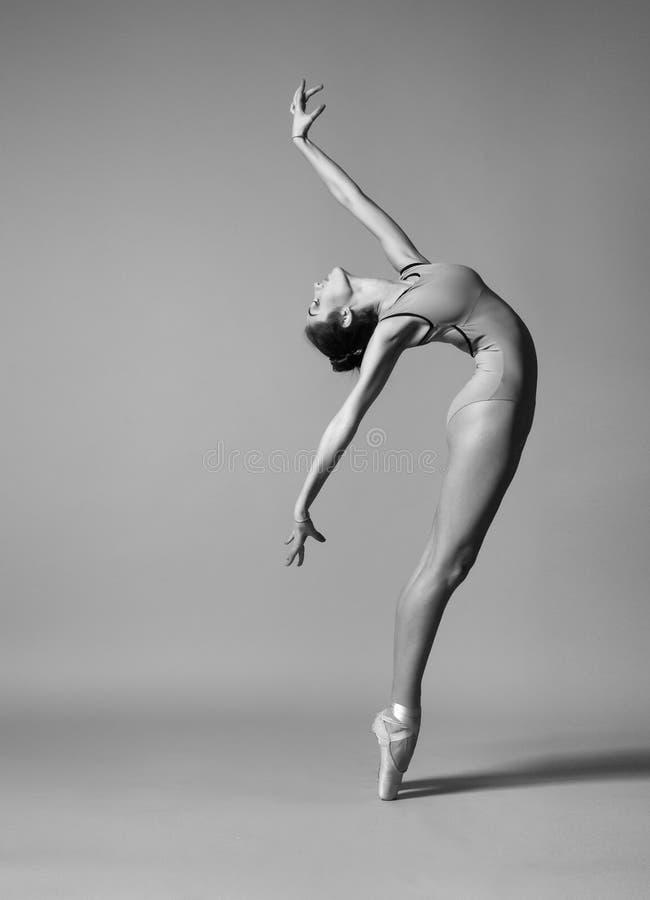 Ballerina böjer tillbaka royaltyfri bild