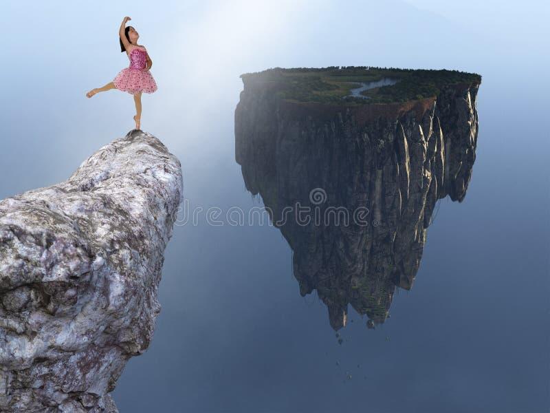 Ballerina balett, ung flicka, fantasi royaltyfri fotografi
