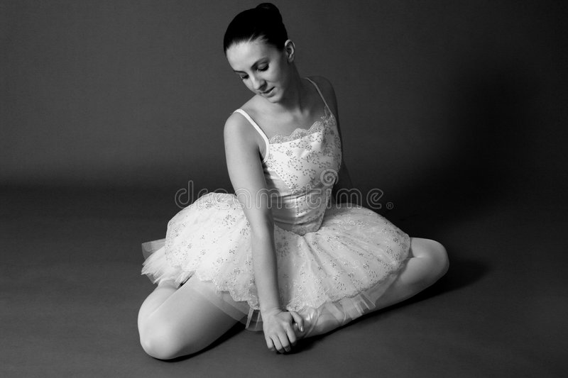 Ballerina In Black & White royalty free stock image