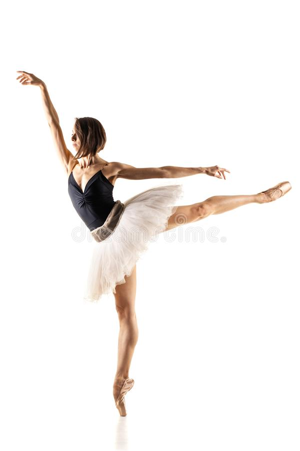 Ballerina with black and white tutu stock images