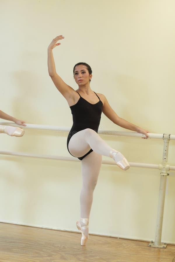 Ballerina in a dance studio royalty free stock photos