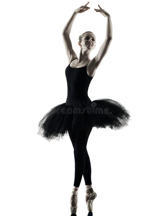 Ballerina dancer dancing woman isolated silhouette stock photos