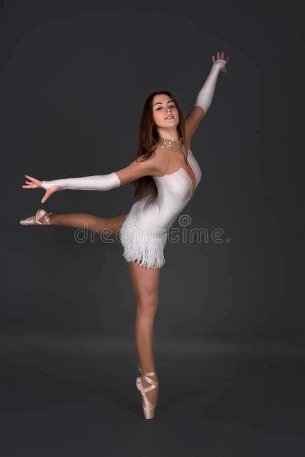 The ballerina dances royalty free stock images