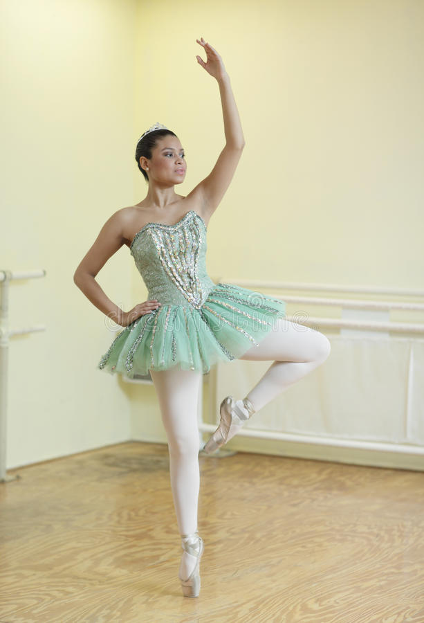 Ballerina dancing royalty free stock photo