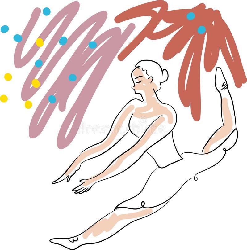 Download The ballerina is dancing stock vector. Illustration of ballet - 107342702