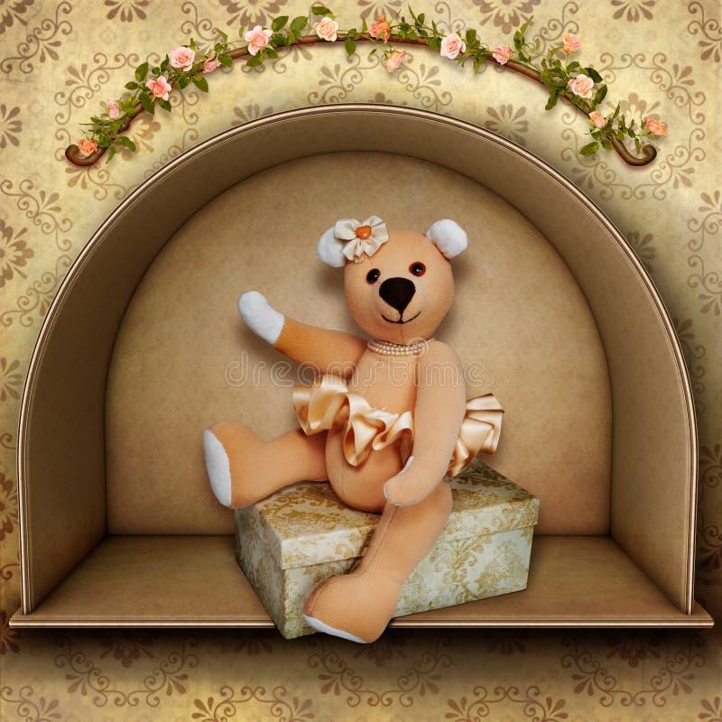 Ballerina dell'orso dell'orsacchiotto royalty illustrazione gratis