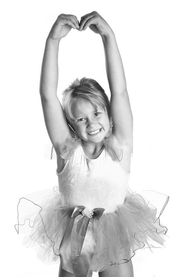 Ballerina des kleinen Mädchens lizenzfreies stockfoto