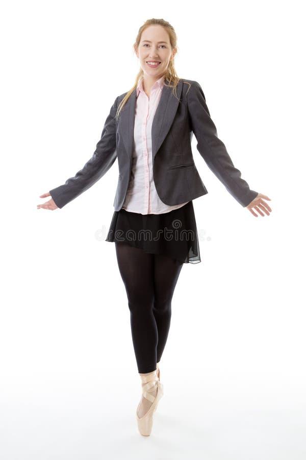 Ballerina di affari fotografia stock