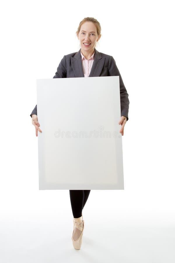 Ballerina di affari con lo spazio della copia immagini stock