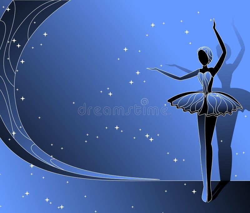 Ballerina di Dancing illustrazione di stock
