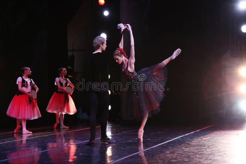 Ballerina di Prima del teatro Ulyana Lopatkina di Mariinsky e così immagini stock libere da diritti