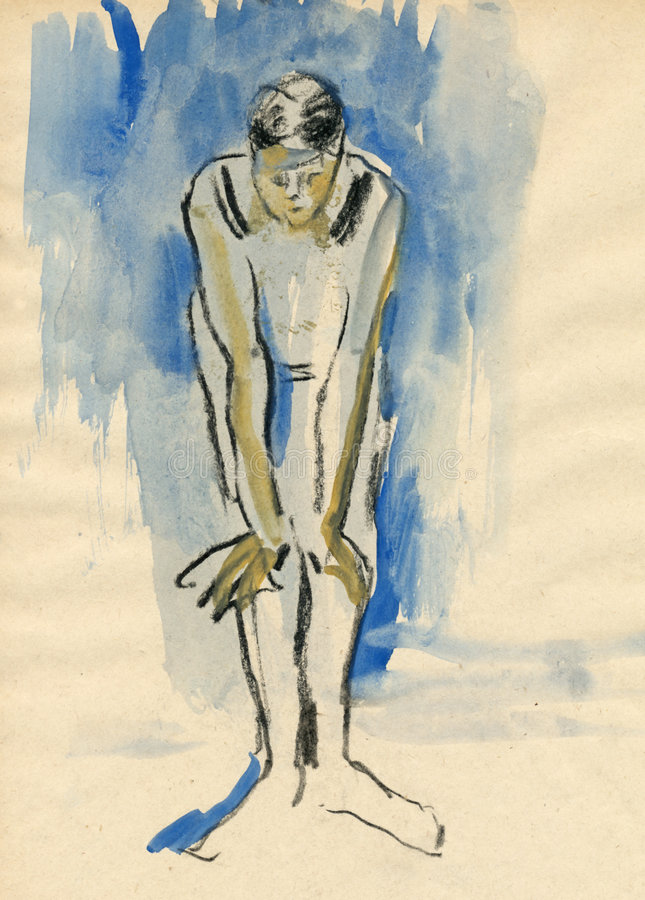 Download Ballerina, drawing 7 stock illustration. Illustration of paper - 7288172