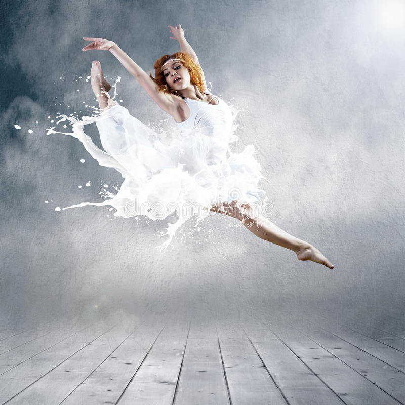 Download Ballerina in dress of milk stock photo. Image of dress - 18933454