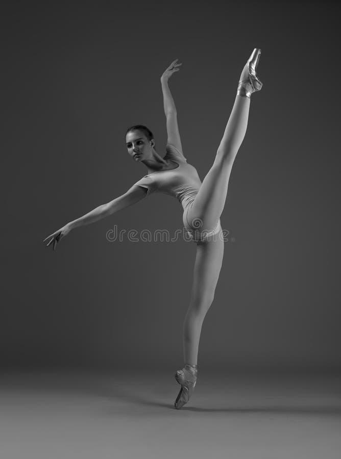 Ballerina in einer Schnur stockfotografie