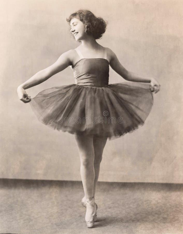 Ballerina EN Pointe στοκ φωτογραφία