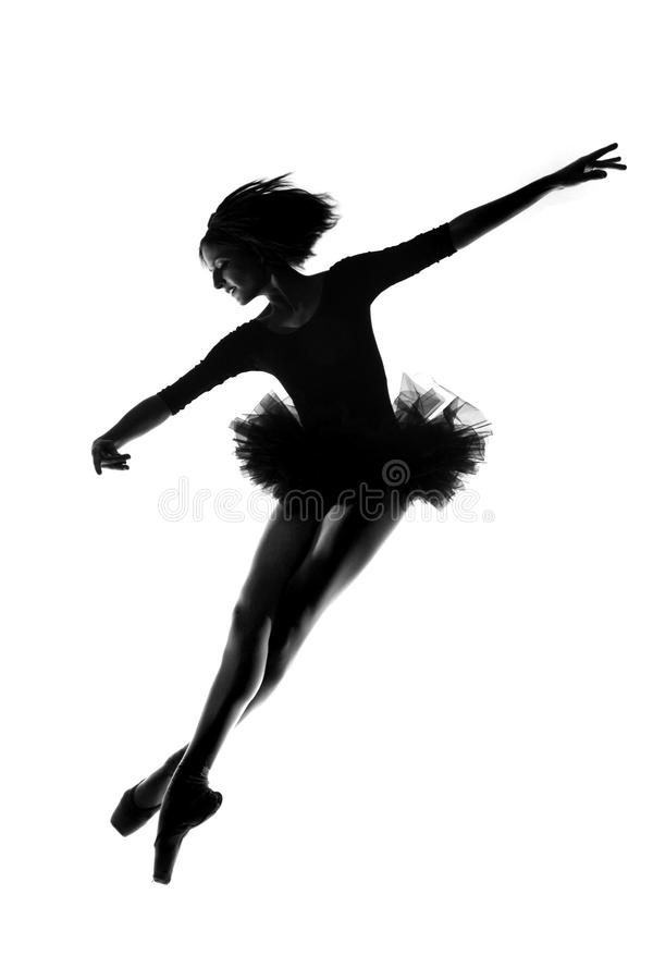 Ballerina femminile in studio immagine stock libera da diritti