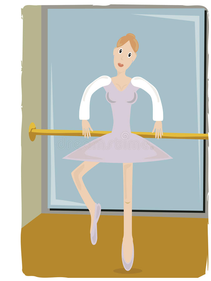 Download Ballerina Gripping Pole Lifting Leg Stock Vector - Illustration of action, active: 10618916