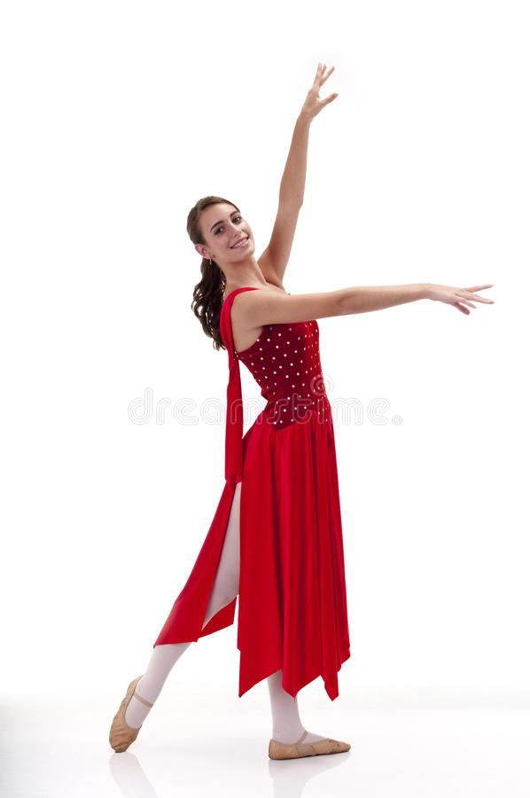 Ballerina-Haltung stockfoto