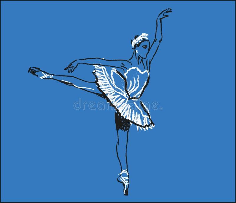 Ballerina het dansen stock illustratie