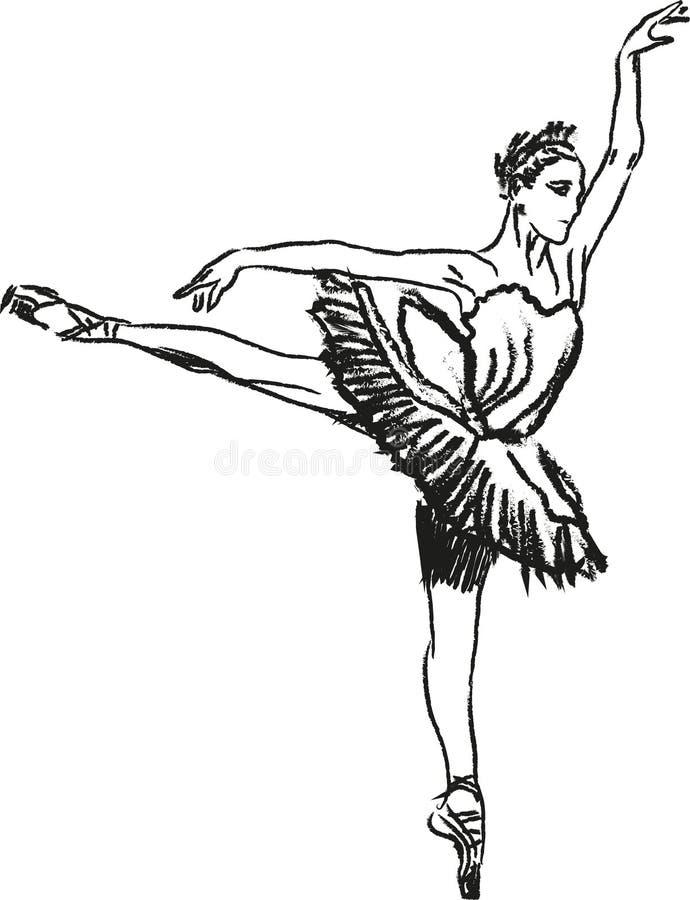 Ballerina het dansen royalty-vrije illustratie