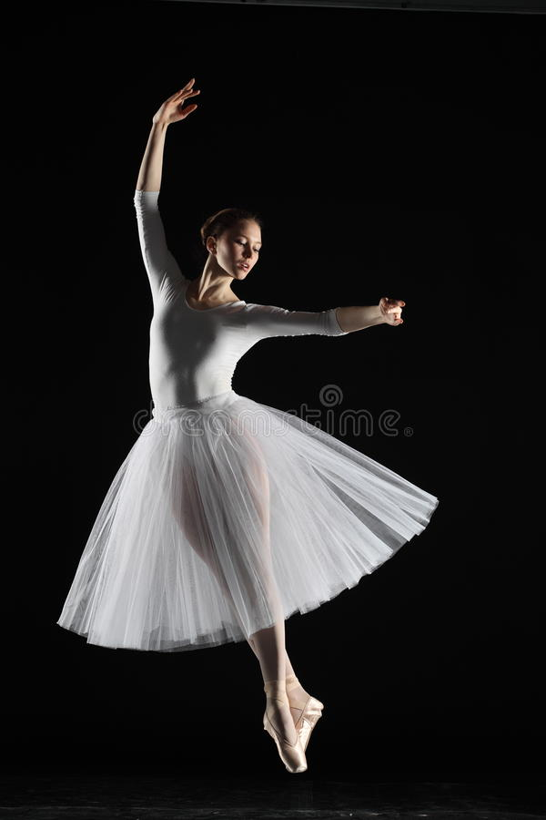 ballerina i vit arkivfoton