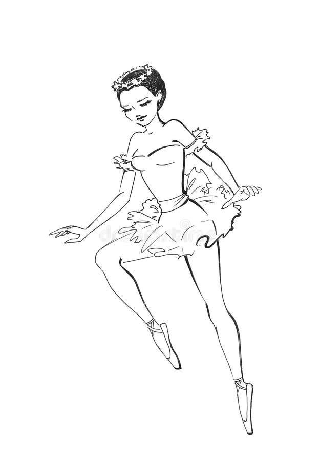 Ballerina im Tanz vektor abbildung