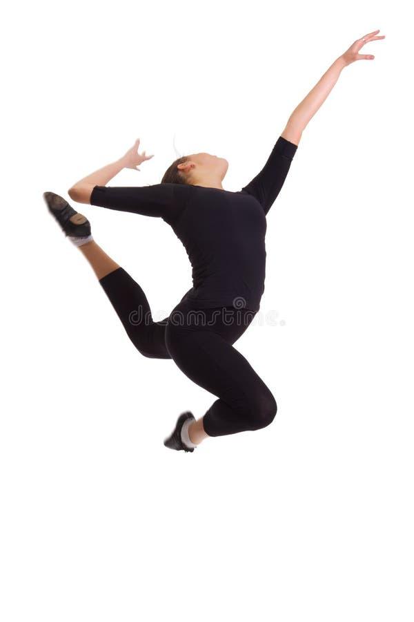 Download Ballerina jumping stock image. Image of brunette, cool - 12446865