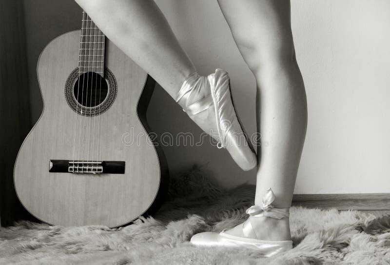 Ballerina legs royalty free stock image