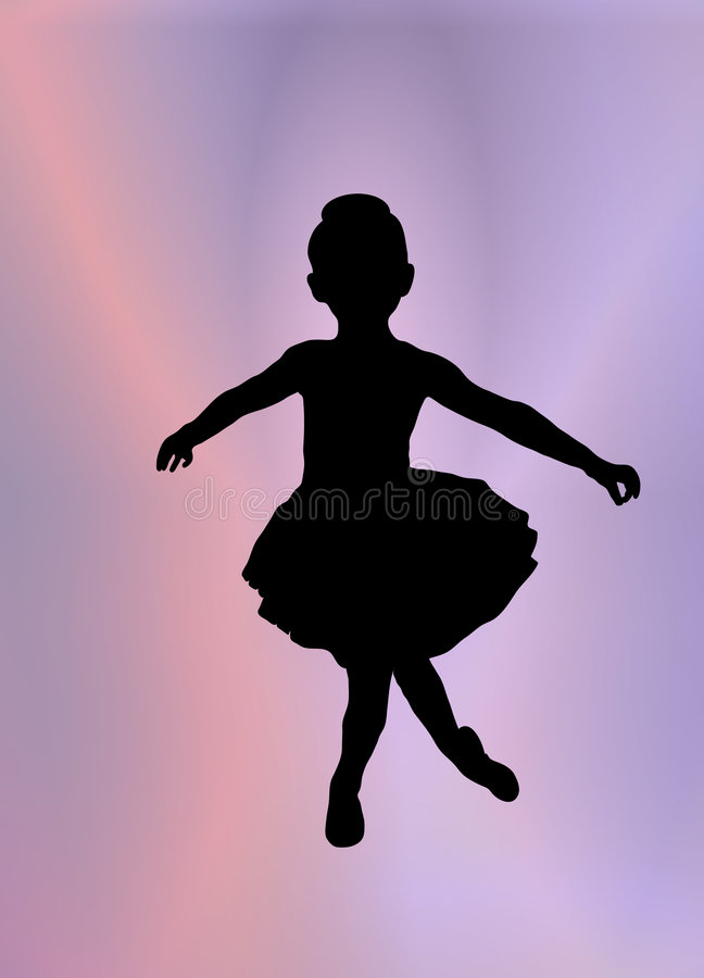 ballerina little royaltyfri illustrationer